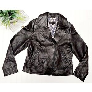 🎉Steve Madden 100% Leather Black Moto Jacket🎉